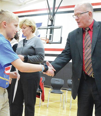 A.J. Siegel of Fort Loramie and Shelby County Sheriff's Chief Jim Frye