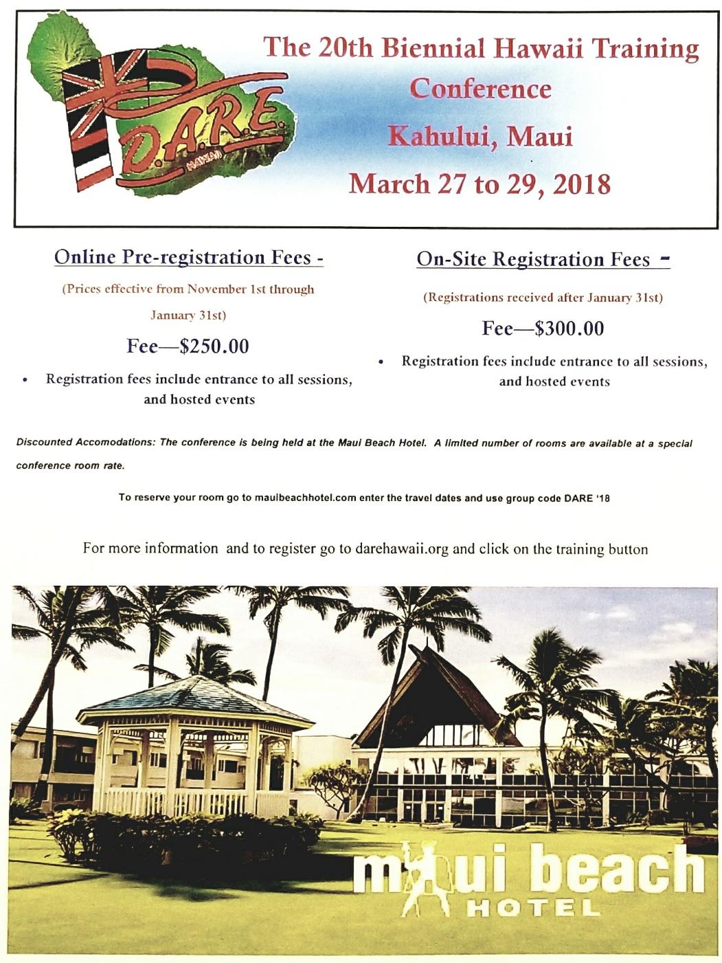 Hawaii Biennial State Training Conference @ Maui Beach Hotel | Kahului | Hawaii | United States