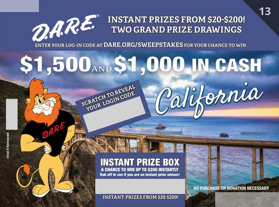 D.A.R.E. Sweepstakes Round 13 - California
