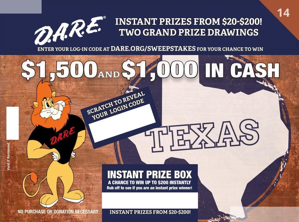 D.A.R.E. Sweepstakes Round 14 - Texas