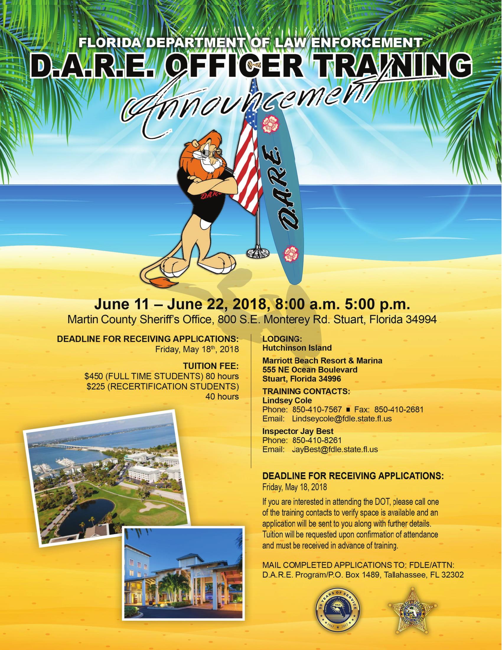 Florida D.A.R.E. Officer Training - Summer 2018 @ Martin County Sheriff's Office | Stuart | Florida | United States
